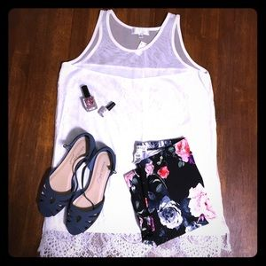 Shannon Ford NY Lacey White Tank Top